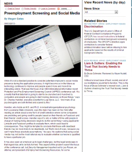 preemployment screening and social media